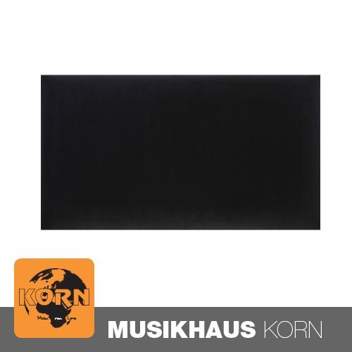 KORN Sitzpolster Klavierbank Soft Samt schwarz