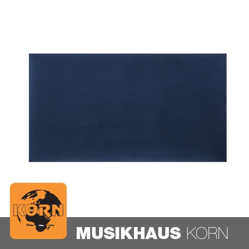 KORN Sitzpolster Klavierbank Samt Blau