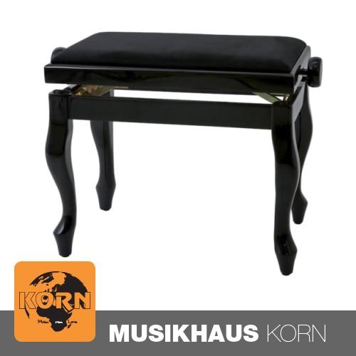 Gewa Klavierbank Deluxe Classic Schwarz hochglanz