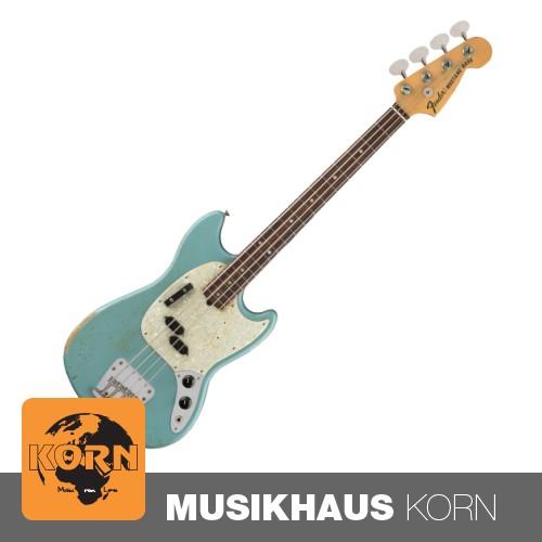 Fender Justin Meldal Johnsen Road Worn Mustang Bass FDB E-Bassgitarre