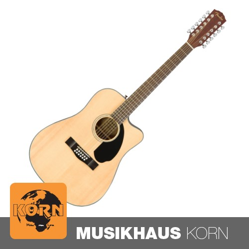 Fender CD-60SCE Dread Natural WN 12-Saitige Westerngitarre
