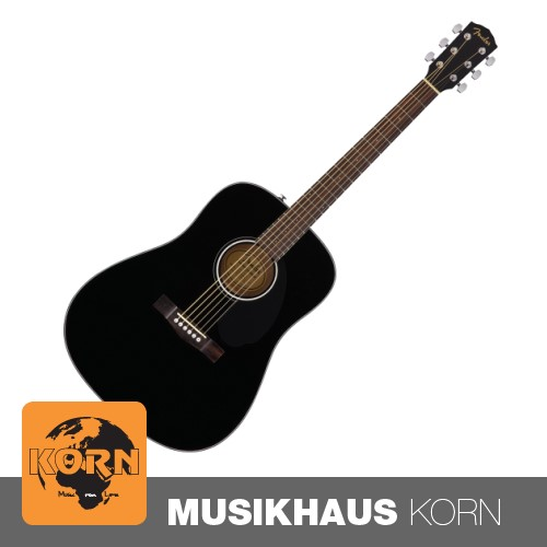Fender CD-60S Dreadnought BK WN Westerngitarre