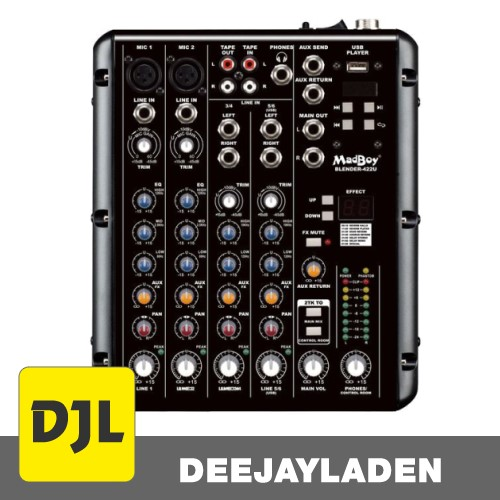 Madboy Blender-422U Karaoke/Audio-Mixer & USB-Player