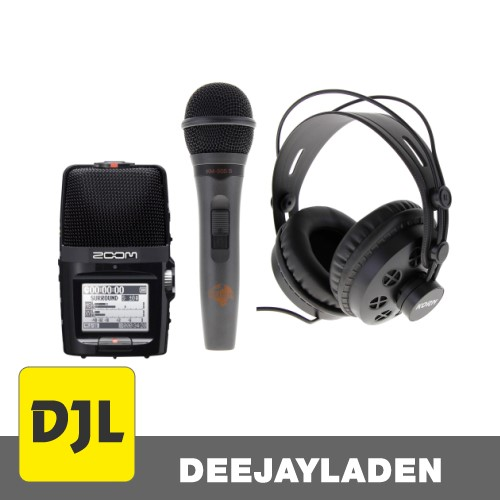 Zoom H2n inkl. Mikrofon und Kopfhörer