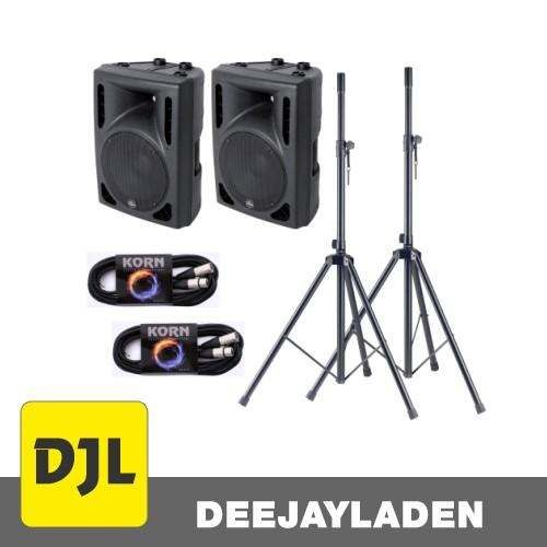 Alpha Audio Aktiv Box 12S Zoll Stativ Set
