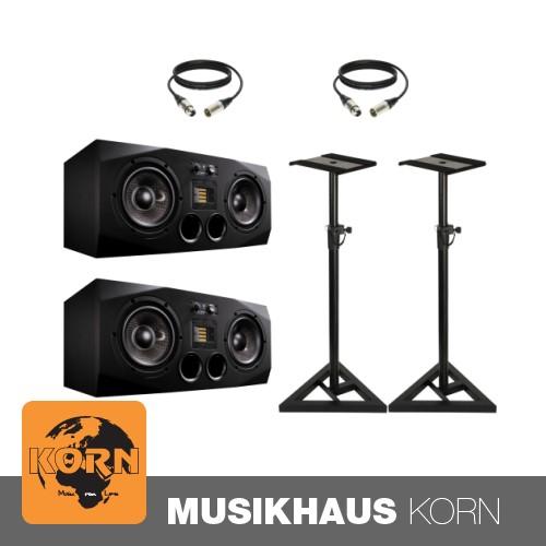 ADAM Audio A77X + Stative + Kabel Set