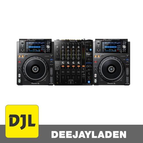Pioneer XDJ-1000 MK2 2er Set + Pioneer DJM-750 MK2
