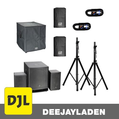 LD Systems Dave 18 G3 aktiv Anlage + Hüllen + Ständer + Kabel