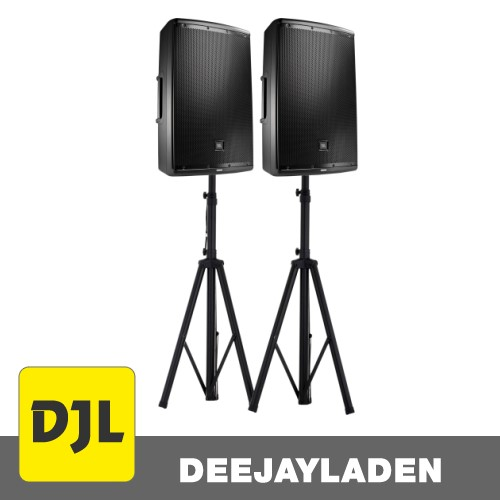 JBL EON 615 Paar + Stativ Set
