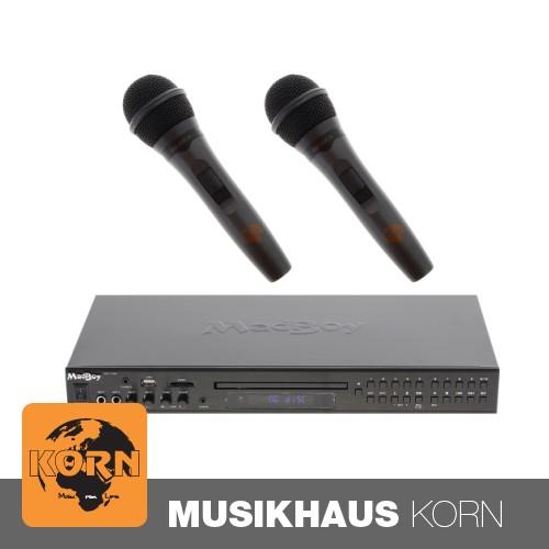 Madboy MFP-1500 Karaoke-Player + 2x Karaoke Mikrofon SET