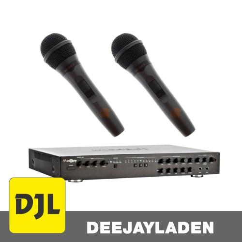 Madboy BOOST-202 Karaoke-Amplifier + 2x Karaoke Mikrofon SET