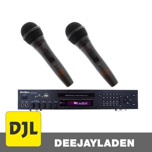 Madboy MFP-2000 Karaoke-Player + 2x Karaoke Mikrofon SET