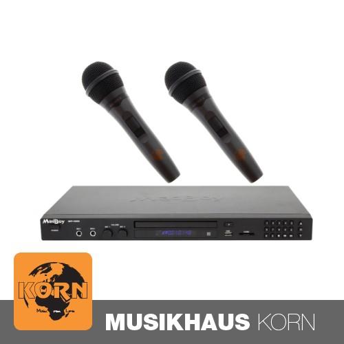 Madboy MFP-1000X Karaoke-Player + 2x Karaoke Mikrofon SET