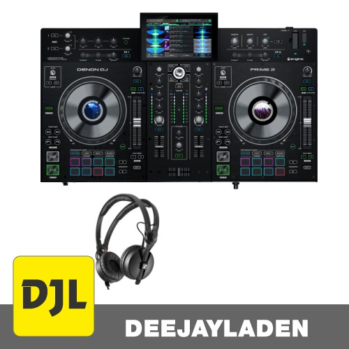 Denon DJ PRIME 2 DJ System + Premium DJ Kopfhörer